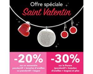 Pylones: -20% sur un ensemble de bijoux & -30% sur une parure pour la Saint-Valentin