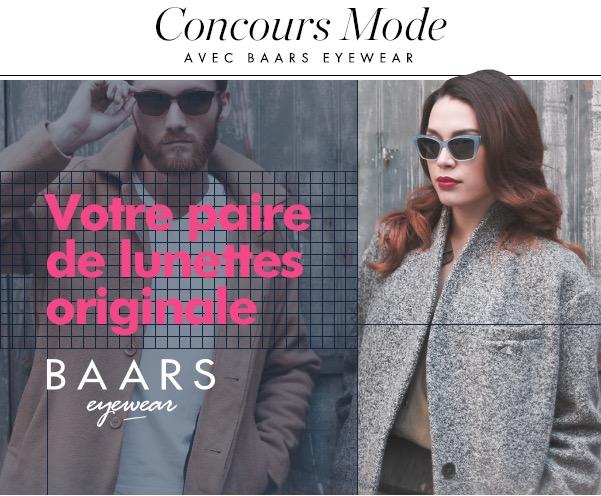 Code promo Elle : 7 paires de lunettes Baars Eyewear à gagner