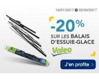 Norauto: -20% sur les balais d'essuie-glace Valéo