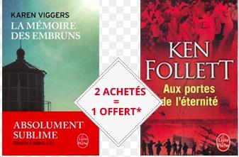 Code promo Chapitre : 2 Livres de Poche LGF neufs achetés = 1 livre gratuit