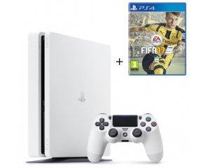 Cdiscount: PS4 Slim Glacier White 500 Go + FIFA 17 à 309,99€