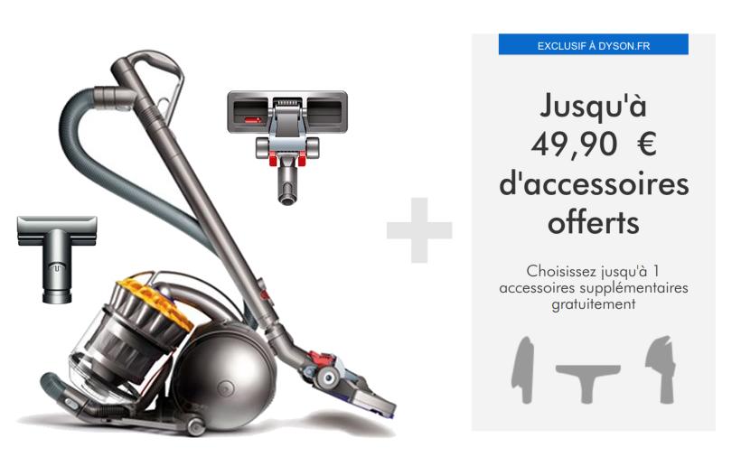 Code promo Dyson : Un accessoire à 49€ offert pour l'achat de l'aspirateur DC33c Mattress