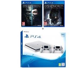 Cdiscount: PS4 Slim 500 Go + 2e Manette + Dishonored 2 & Definitive Edition à 339,99€