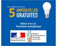 Mes Ampoules Gratuites: Transition Energétique: 5 ampoules led Gratuites, 15 en + pour 1€ ou 25 pour 2€
