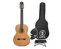 Cultura: Guitare classique Niquita + housse, accordeur électrique et repose pied à 69€