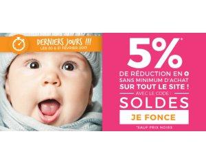 Allobébé: 5% de remise supplémentaire sur les produits soldés