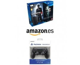Amazon: Pack ps4 slim 1To + Uncharted 4 + Dishonored 2 + 2ème manette à 329€
