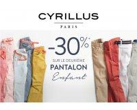 Cyrillus: -30% sur le 2e pantalon Garçon et Fille