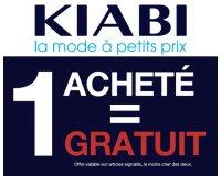 Kiabi: 1 article acheté = 1 gratuit sur une sélection d'articles
