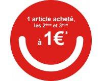 Okaïdi: 1 article acheté = les 2ème et 3ème à 1€