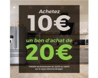 Cdiscount: Payez 10€ le bon d'achat Cdiscount de 20€ à dépenser sur le rayon électroménager