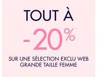 Kiabi: Exclu web: -20% sur une selection grande taille femme