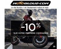 Motoblouz: Incrivez-vous à la newsletter Motoblouz & économisez 10% sur votre premier achat
