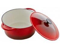 Auchan: Cocotte ovale en fonte rouge 6,5L - 32 cm à 26,90€