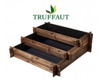 Truffaut: Le potager carré en escalier Lipsi en pin 126x126cm à 42,95€ au lieu de 54€