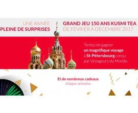 Kusmi Tea: 1 voyage à St-Pétersbourg et 1 lot par semaine pour tout 2017 à gagner