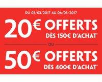 Darty: Jusqu'à 50€ en carte cadeau : 20€ dès 150€ & 50€ offerts dès 400€ d'achat