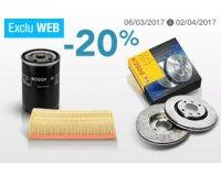 Norauto: 20% de réduction sur les filtres, plaquettes de frein et disques de frein Bosch