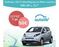 Vente Privée: 1 an d'abonnement à Autolib, Bluecub ou Bluely à 50€ au lieu de 120€
