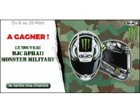 Speedway: 1 casque moto HJC Monster Military à gagner