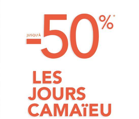 Code promo Camaïeu : [Les jours Camaïeu] Jusqu'à 50% de remise sur de nombreux articles + codes promo