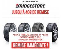 Speedy: 20€ de réduction pour 2 pneus Bridgestone achetés ou 40€ pour 4