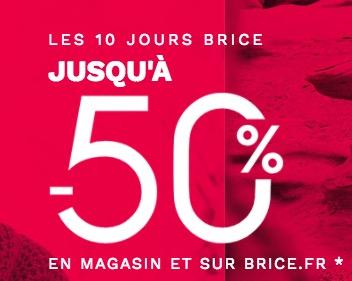 Code promo Brice : Les 10 jours Brice : jusqu'à -50% sur une sélection d'articles pour homme