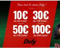 Dafy Moto: Remise immédiate avec 10€ dès 60€, -30€ dès 170€, -50€ dès 270€ & -100€ dès 480€
