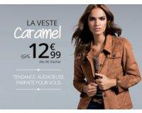 3 Suisses: La veste Caramel à 12,99€ au lieu de 49,99€