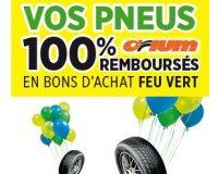 Feu Vert: Vos pneus Orium 100% remboursés en bons d'achat