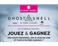 Planet Sushi: 100 places de cinéma & 200+ lots autour du film Ghost in the Shell à gagner