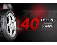 Allopneus: Jusqu'à 40€ offerts chez Cultura.com en achetant vos pneus Firestone