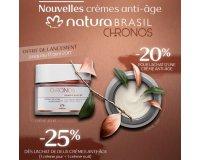 Natura Brasil: -20% pour l'achat d'une crème anti-âge, -25% pour l'achat de 2
