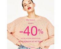 Zara: Jusqu'à -40% sur une sélection d'articles