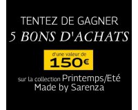 Grazia: 5 bons d'achat d'une valeur de 750€ de la collection Printemps/Eté 2017 Sarenza