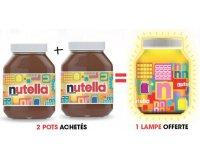Nutella: Pour l'achat de 2 pots Nutella = une lampe Nutella offerte