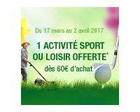 Truffaut: Une activité de sport ou de loisir offerte dès 60 € d'achats