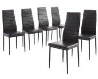 Cdiscount: Lot de 6 chaises de salle à manger noires SAM à 79,99€