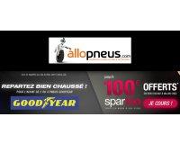 Allopneus: Jusqu'à 100€ à valoir chez Spartoo.com pour l'achat de 4 pneus auto