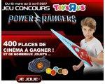 ToysRUs: 400 places de cinéma et des jouets Power Rangers à gagner