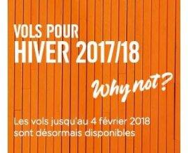 easyJet: Billets d'avion : ouverture des vols Hiver 2017/18