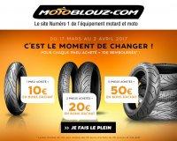Motoblouz: 10€ offerts en bon d'achat par pneu moto acheté parmi une sélection