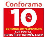Conforama: [Membres Confo+] 10% de remise en plus sur tout le rayon gros électroménager