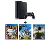 Auchan: PS4 Slim 500Go + GTA 5 + Horizon Zero Dawn + CoD : Infinite Warfare à 339,99€