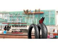 Allopneus: 20€ remboursés sur l'achat d'un pneu moto Bridgestone, 40€ pour le train complet