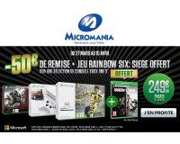 Micromania: -50€ & le jeu Rainbow Six Siege en cadeau pour l'achat d'un pack Xbox One S