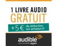 Amazon: 5€ offerts en bon d'achat en souscrivant à l'offre d'essai gratuite Audible