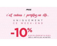 MOA: -10% supplémentaires dès 2 articles achetés