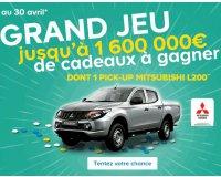 Castorama: Jusqu'à 1.600.000€ de cadeaux à gagner dont 1 Pick-up Mitsubishi L200
