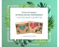 Voici: 48 packs Detox YOUR TEA à gagner